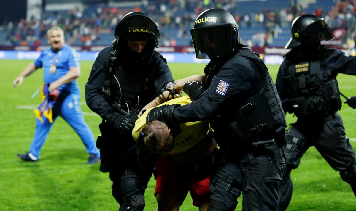 УЄФА відкрив дисциплінарну справу за підсумками матчу Чехія - Україна / REUTERS