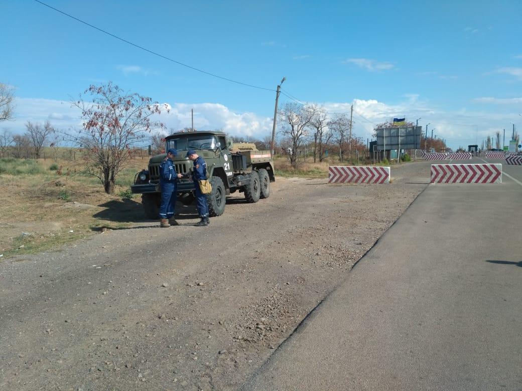 """На Херсонщине последствия """"химатаки"""" почувствовали неделю назад / фото dsns.gov.ua"""