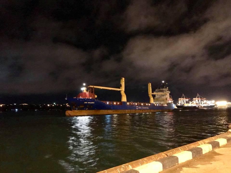 Первый локомотив General Electric прибыл в порт Черноморск / фото facebook.com/Kravtsov.Evg