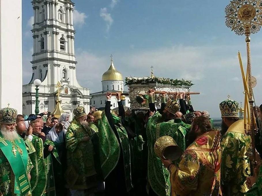 Урочистості в день пам'яті преподобного Іова Почаївського / pochaev.org.ua