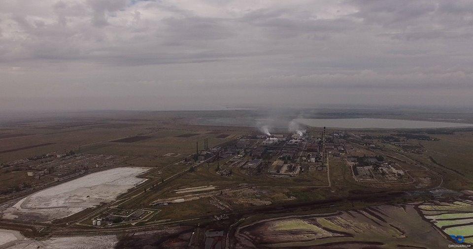 Рівень шкідливих речовин в повітрі Армянська «нижче межі виявлення» / фото Dronarium Украина