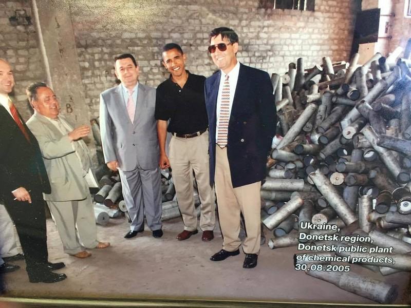 Обама инспектировал утилизацию боеприпасов, которая осуществлялась на деньги США / фото: Сергей Ваганов