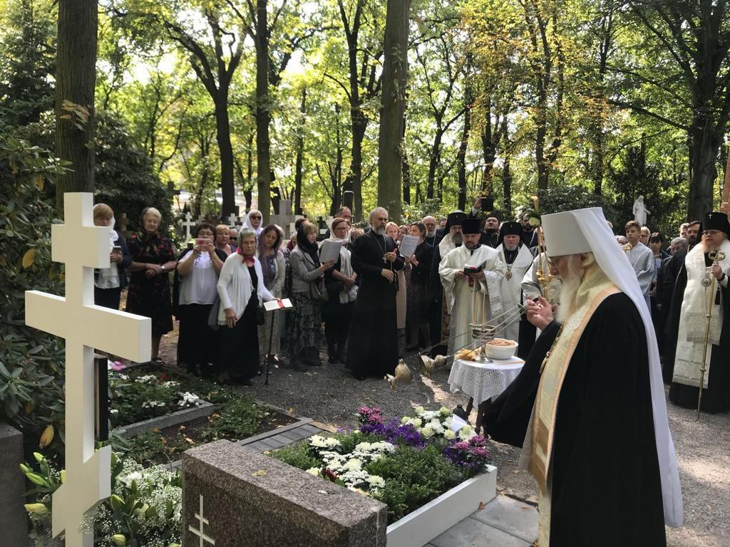 Панихида на русском православном кладбище в Тегеле / rokmp.de