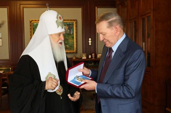 Леонід Кучма отримав найвищу нагороду УПЦ КП / kuchma.org.ua