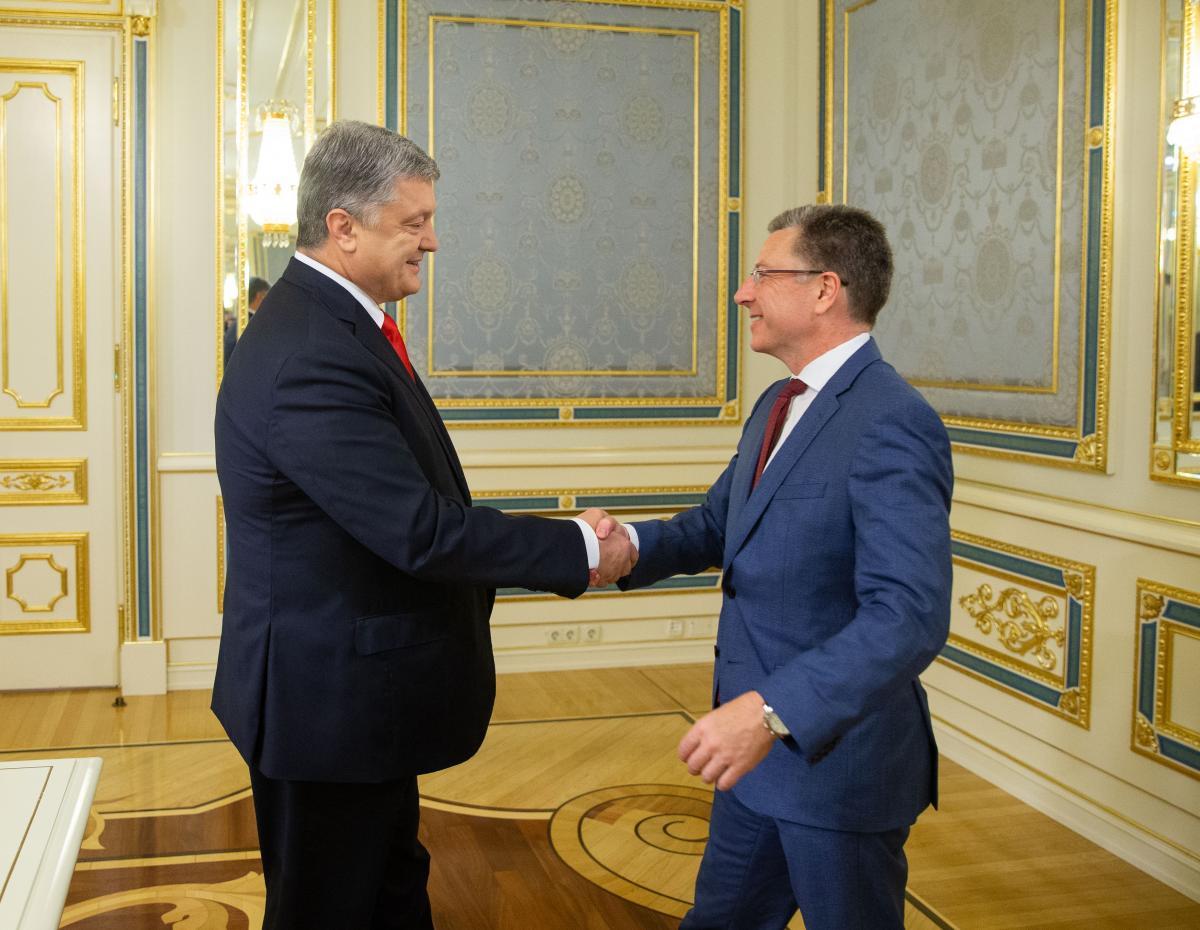 Петро Порошенко і Курт Волкер / фото president.gov.ua