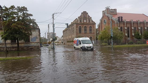 В Бердянске затопило улицы / фото pro.berdyansk.biz