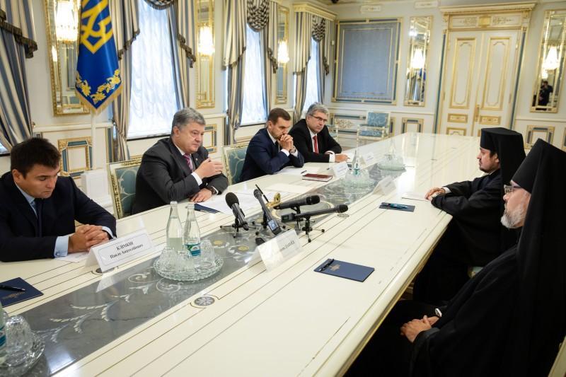 Порошенко зустрівся з екзархами Вселенського Патріархату / president.gov.ua