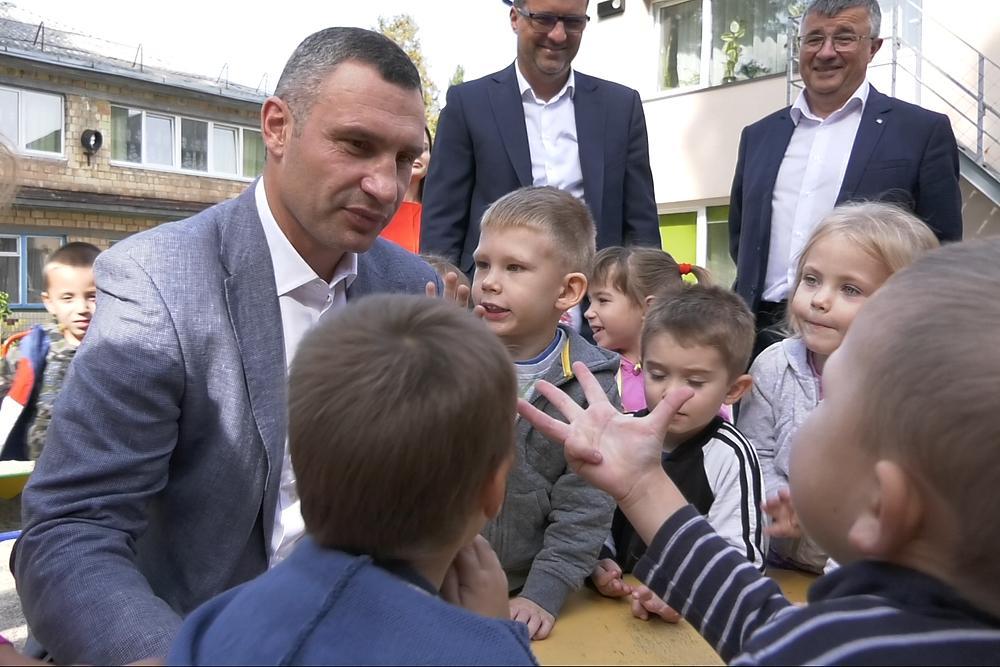 Кличко рассказал о планах относительно детсадов в столице в 2018 году / фото kiev.klichko.org