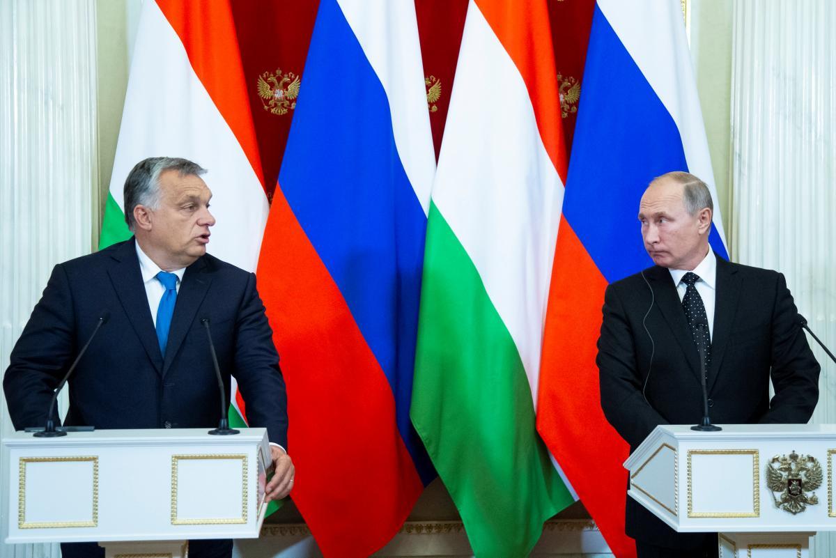 Виктор Орбан  и Владимир Путин / REUTERS