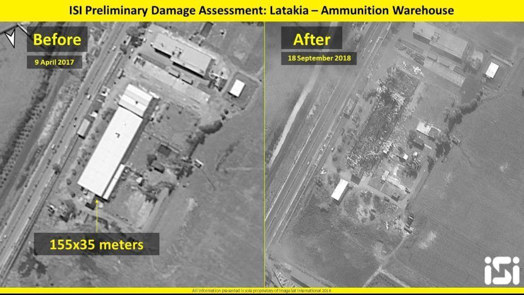 """Израиль утверждает, что на этом объекте изготавливались ракеты для ливанской """"Хезболлы"""" / фото imagesatintl"""