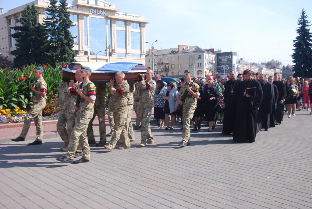 Волынские священники провели в последний путь погибшего в АТО военнослужащего / news.church.ua