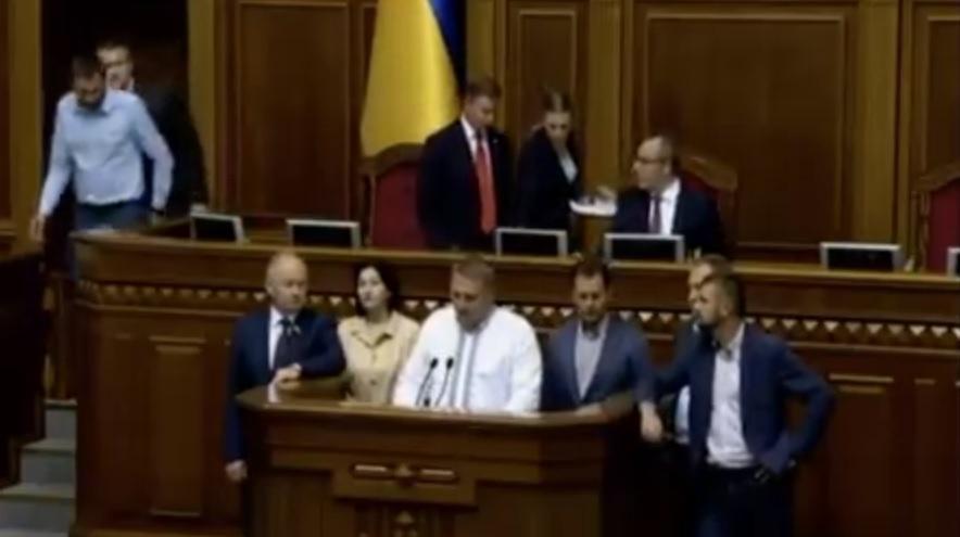 Шевченко во время сегодняшнего выступления / скриншот