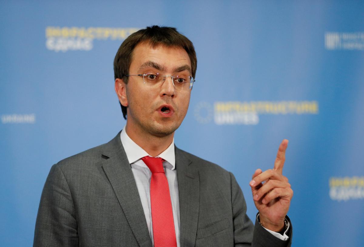 Глава Мінінфраструктури Володимир Омелян / REUTERS