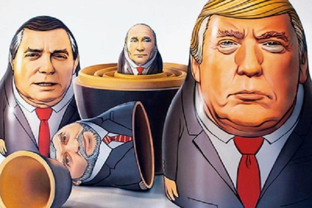 Журнал Time превратил В.Путина  в небольшую  матрешку