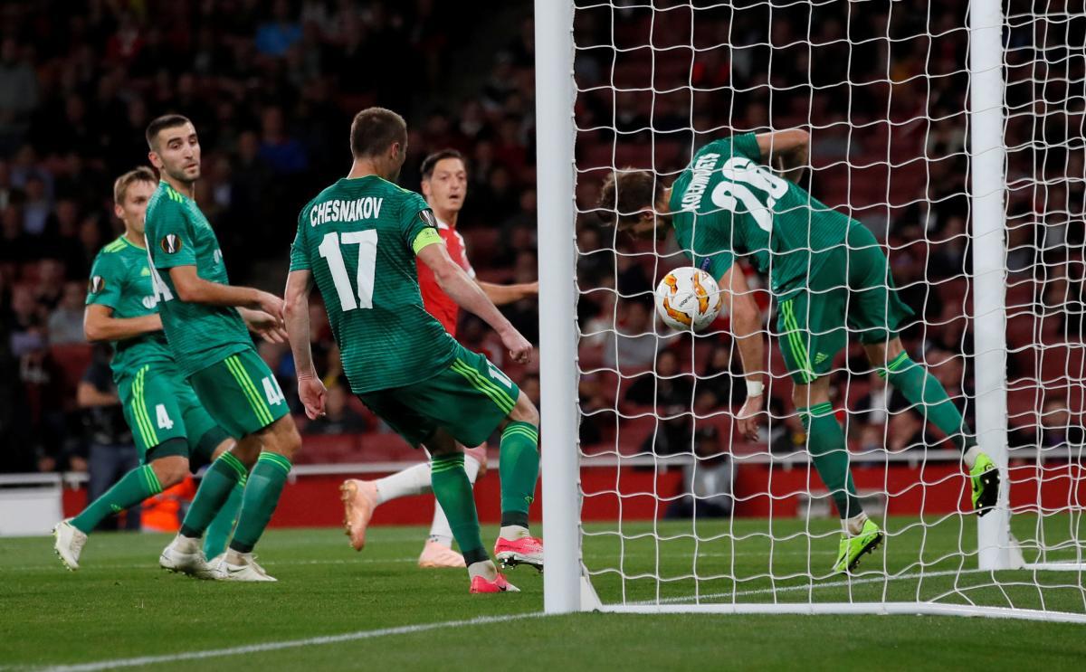 Арсенал впевнено переграв Ворсклу в домашньому матчі Ліги Європи / Reuters