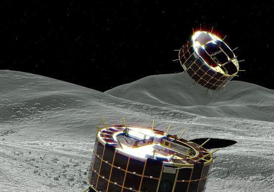 Главной особенностью спускаемых аппаратов является их с способность к скаканию по поверхности / JAXA