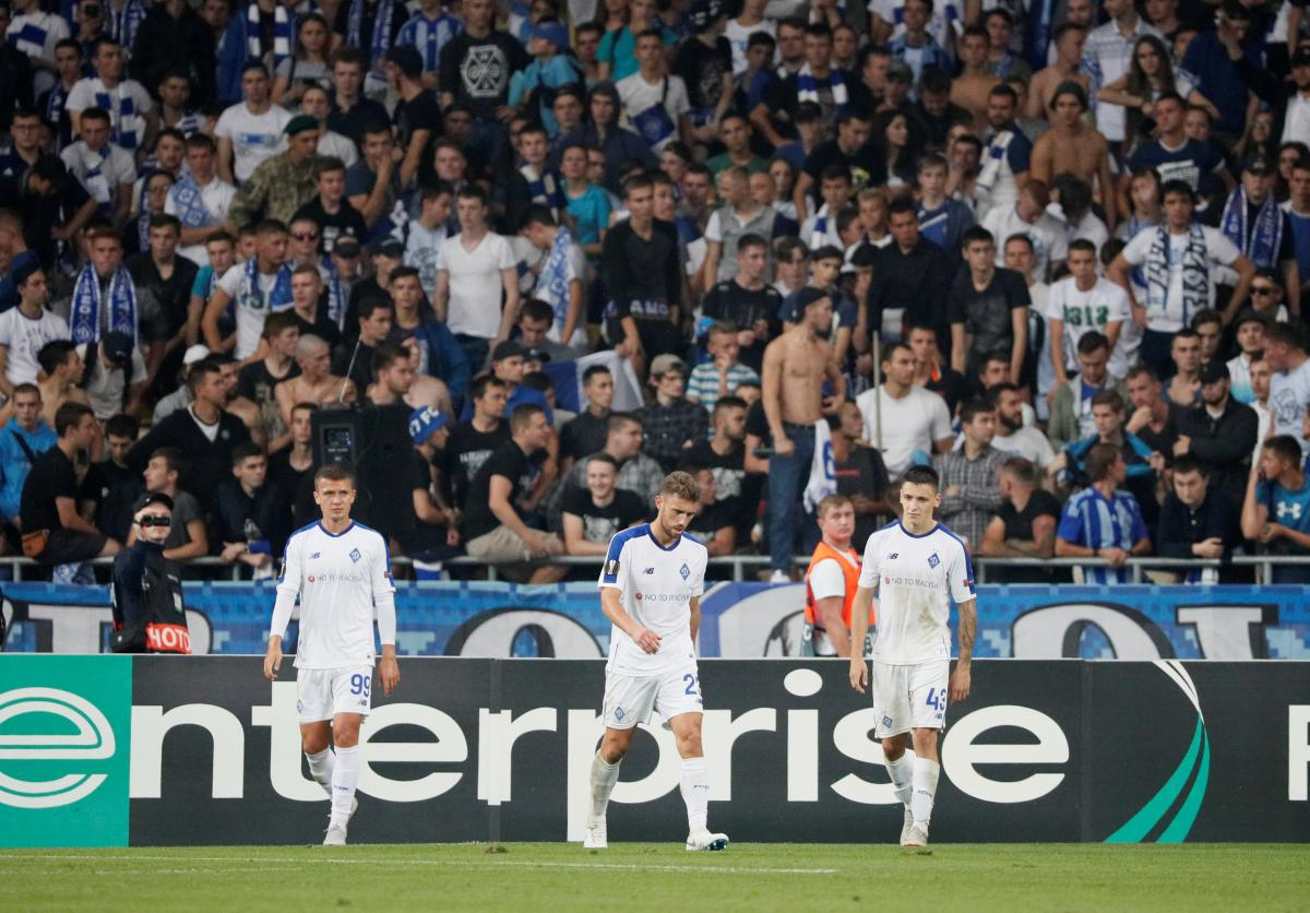 Игроки Динамо после упущенной победы с Астаной / REUTERS