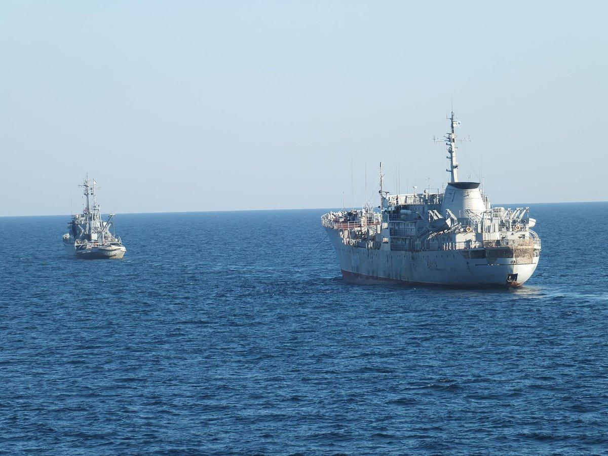 Ukrainian Navy ships heading to Sea of Azov through Kerch