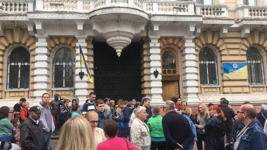 В Одессе митингуют за отставку руководства полиции / фото 7 канал
