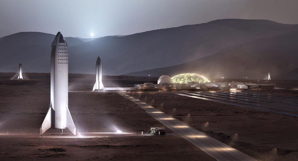 "В 2021 году на Марсе станет ""людно""/ @elonmusk"