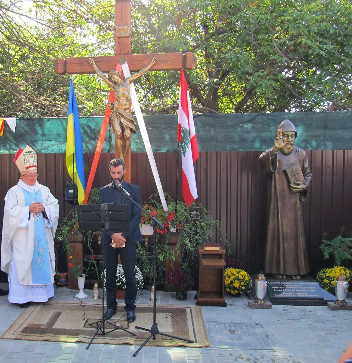 В Одессе открыли памятник святому Шарбелю / rkc.in.ua