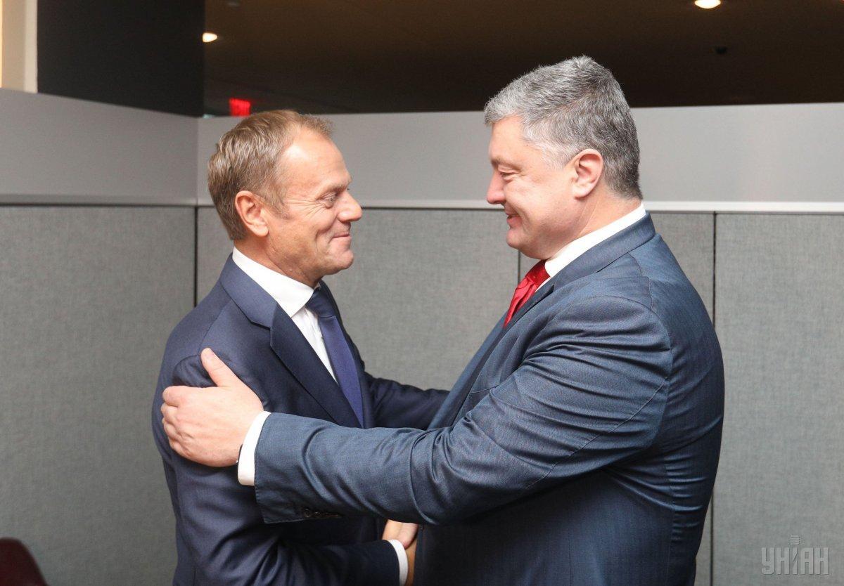Порошенко провел переговоры с Туском на Генассамблее ООН и призвал усилить давление на Россию