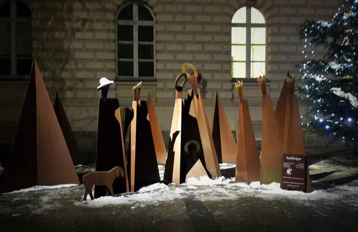 Одна из необычных вариаций на тему рождественского вертепа / Фото Марина Григоренко