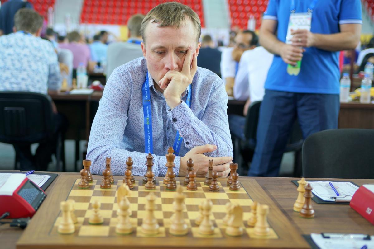 Пономарев в 3-м туре Олимпиады свел свою партию вничью / batumi2018.fide.com