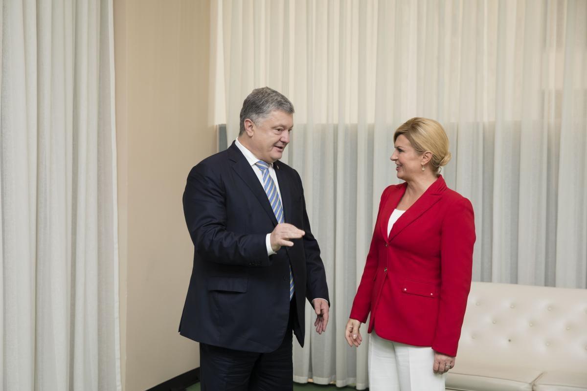 Порошенко встретился с президентом Хорватии КолиндойГрабар-Китарович / фото president.gov.ua