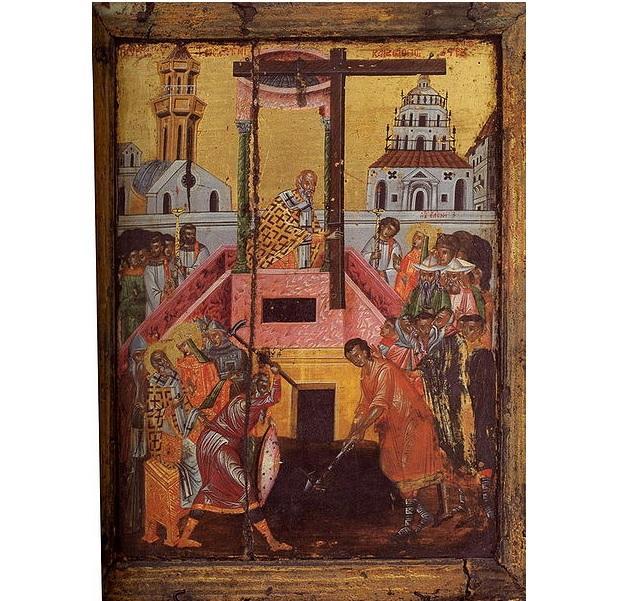 Ікона «Знайдення Хреста», Афон, монастир Пантократор. XVII століття.