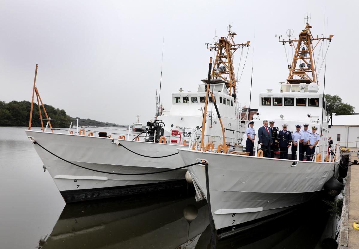 США передали Украине первые два катера класса Island / фото president.gov.ua
