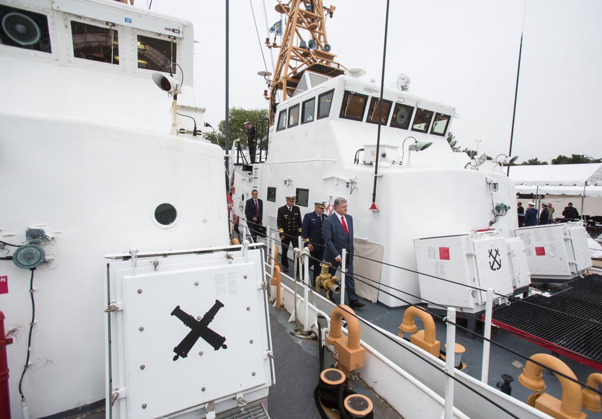 Порошенко посетил базу Береговой охраны США «Балтимор» / фото president.gov.ua