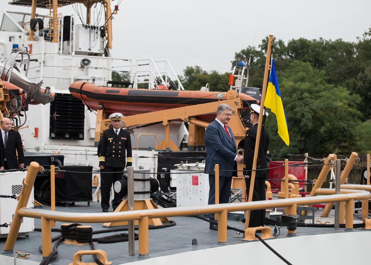 Порошенко відвідав базу Берегової охорони США «Балтімор» / фото president.gov.ua