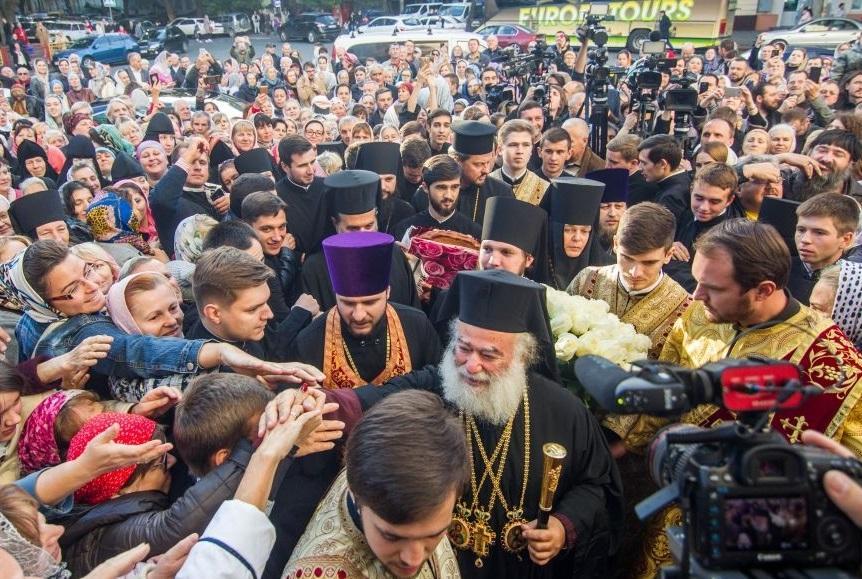 Патриарх Александрийский Феодор в Одессе поддержал верующих УПЦ / eparhiya.od.ua