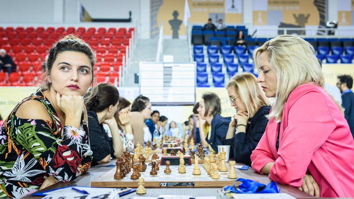 Женская сборная Украины не смогла обыграть хозяек Олимпиады из команды Грузии / batumi2018.fide.com