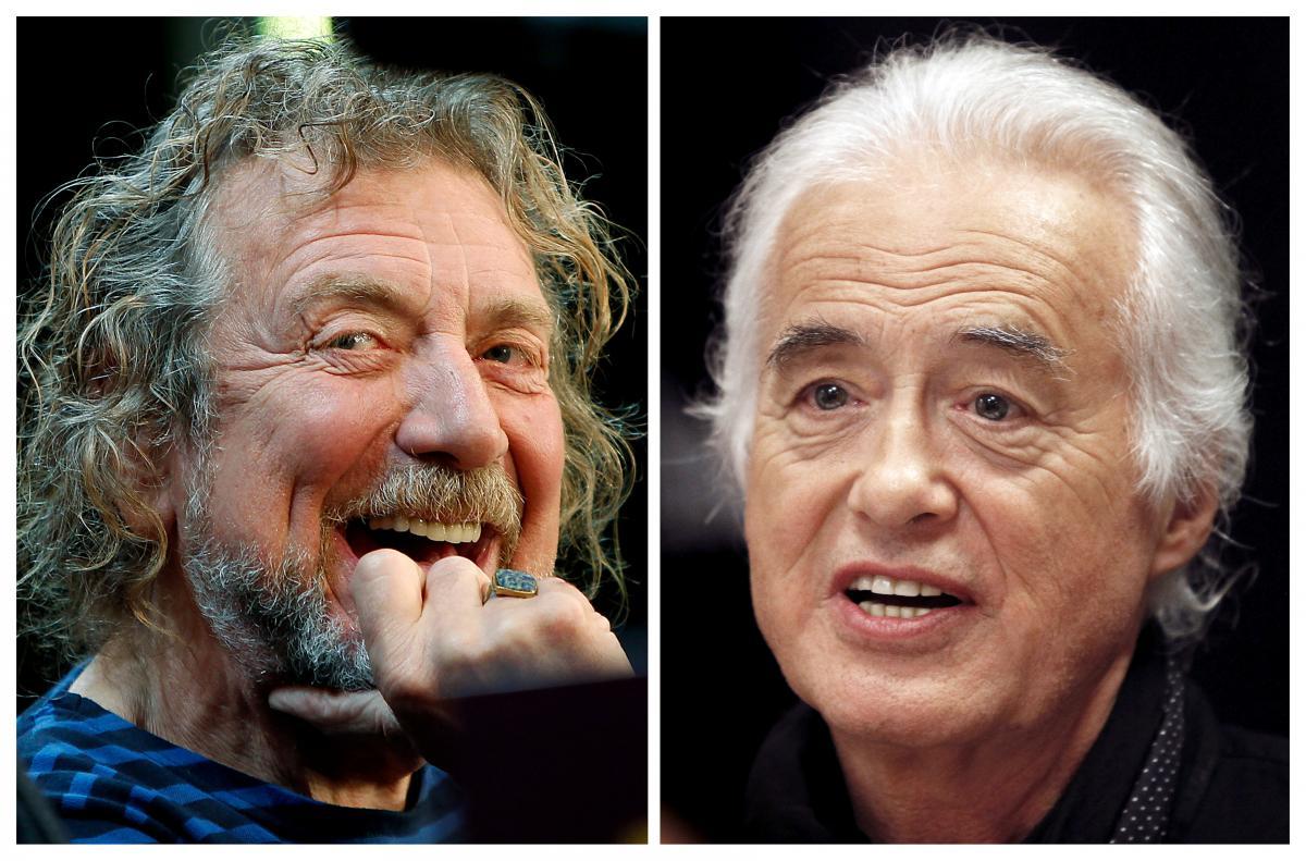 Солист Led Zeppelin Роберт Плант (л) и гитарист Джимми Пейдж (п) / REUTERS