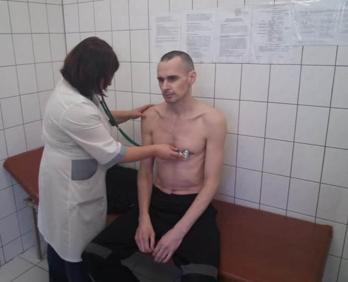Олег Сенцов у лікарні в РФ / фото УФСВП по Ямало-Ненецькому автономному округу