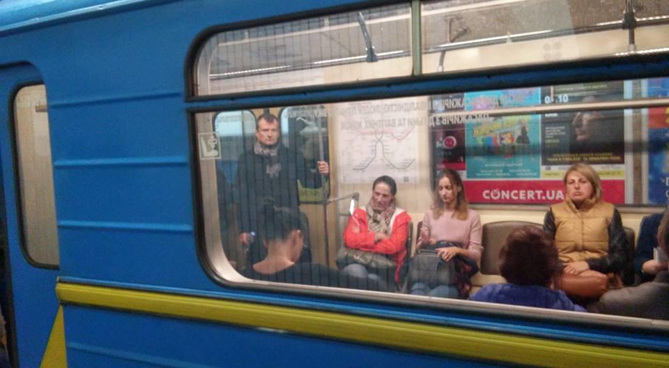Журналистка возмущена инцидентом в метро / фото facebook.com/svetlinka.n