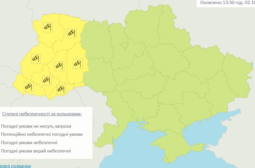 На заході України очікується сильний вітер / Укргідрометцентр