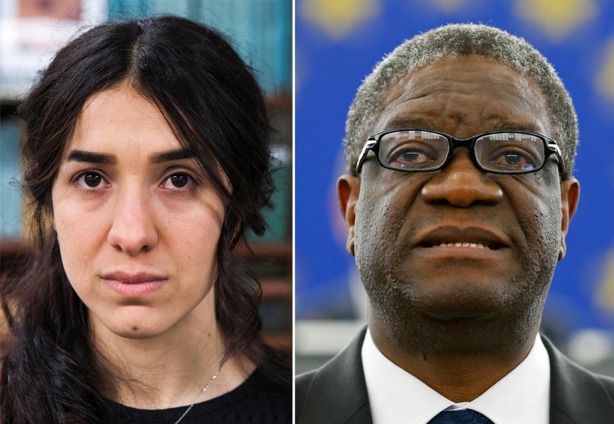 Лауреати Нобелівської премії миру-2018 Надя Мурад та Деніс Муквеге / REUTERS