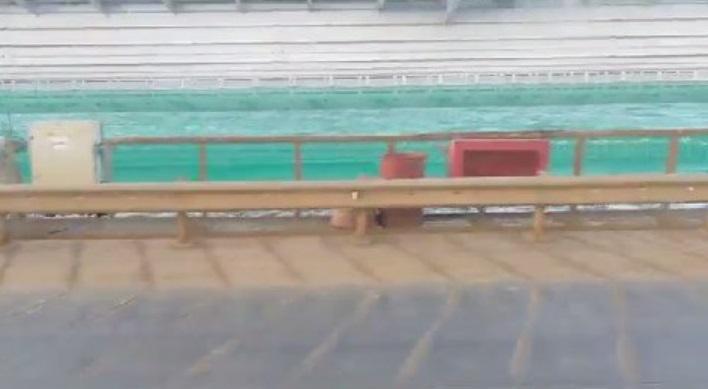 ЧП на Крымском мосту произошло 4 октября / фото twitter.com/krimrt