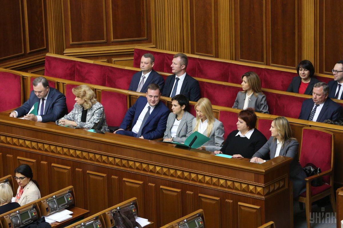 Члены ЦИК во время заседания Верховной Рады Украины / фото УНИАН
