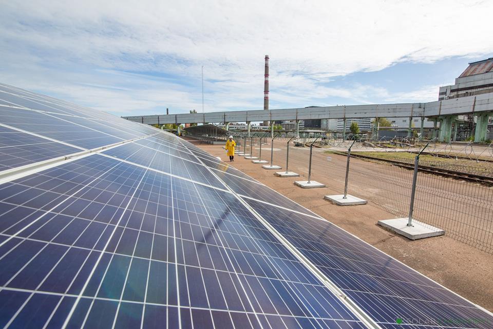 В Припяти открыли солнечную электростанцию / фото Facebook/Solar Chernobyl