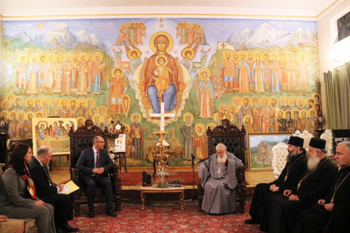 Спікер українського парламенту і глава Грузинської православної церкви обговорили ситуацію в Україні / patriarchate.ge