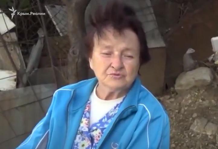 У соцмережах активно коментують заяву пенсіонерки / фото twitter.com/krymrealii