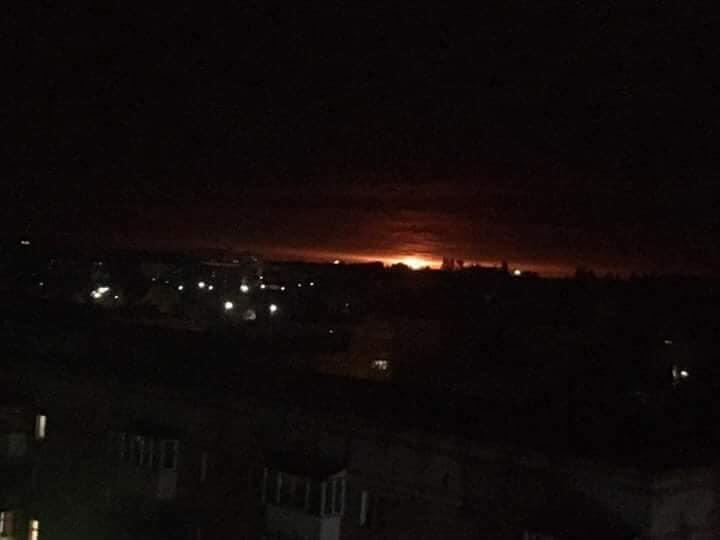 Пожар на складе под Ичней/ фото Черниговская волна