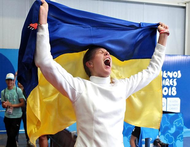 Екатерина Черной выиграла два золота юношеской Олимпиады в фехтовании / noc-ukr.org