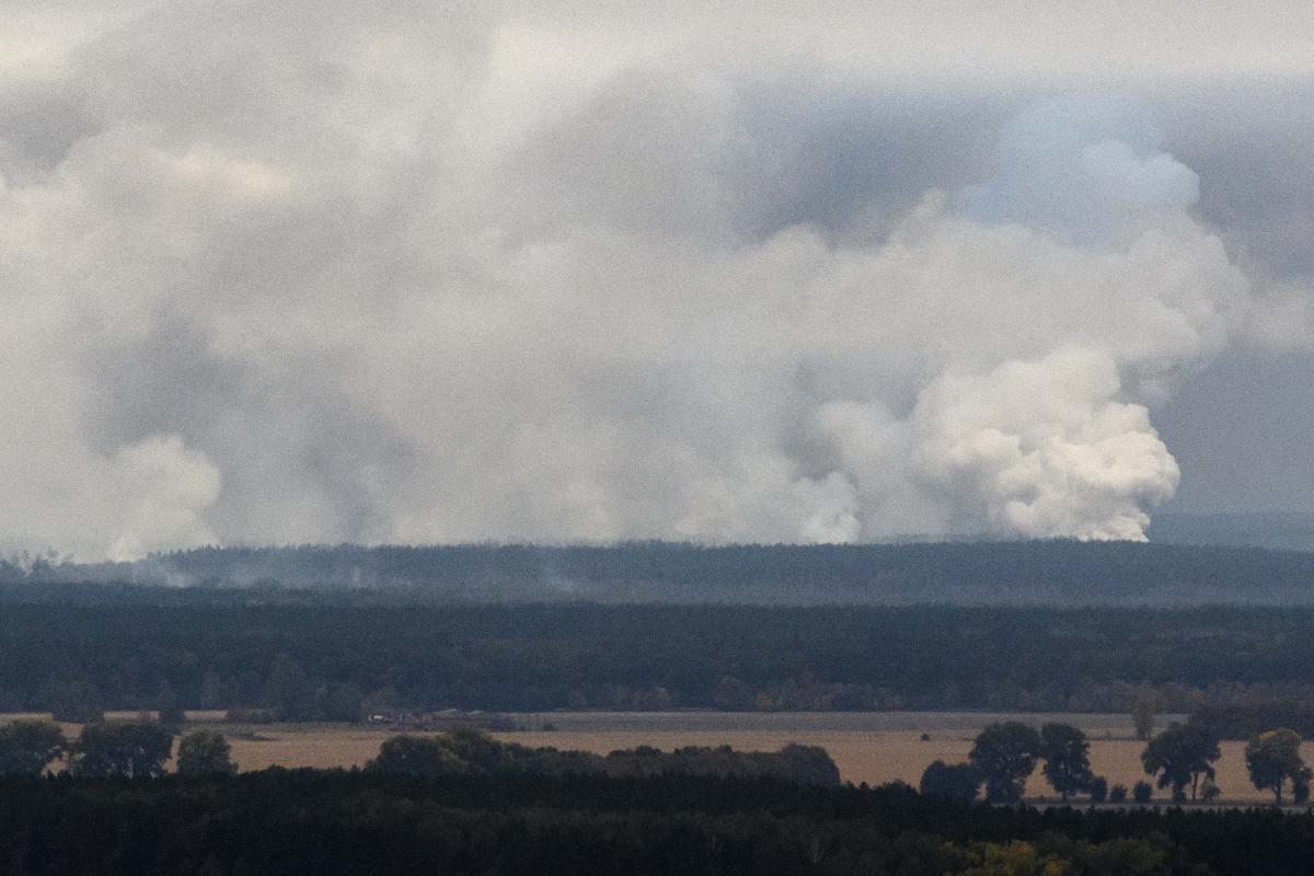 Вибухи біля Ічні 9 жовтня / REUTERS