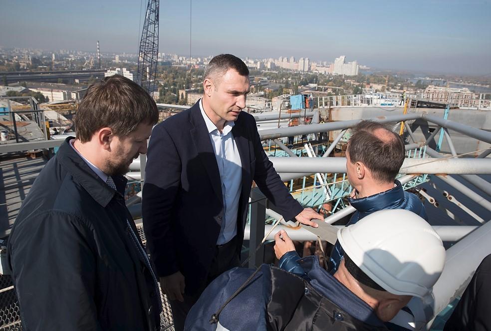 Кличко: за 2 года 300 тысяч жителей Троещины смогут проехать по Подольско-Воскресенскому мосту / kiev.klichko.org