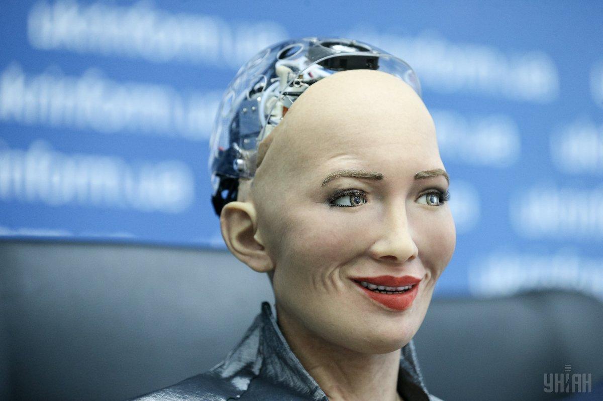 Робот София посетила студию ТСН / фото УНИАН